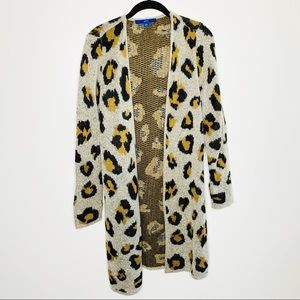 Apt. 9 Leopard Printed Duster Cardigan Size Small